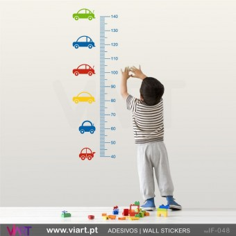 "Growth Ruler ""Cars"". Wall stickers - Baby room decoration - Viart -1"