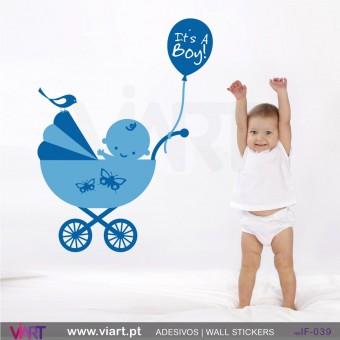 It's a Boy! Vinil Autocolante Decorativo! Decoração quarto Bebé - Infantil - Viart -1
