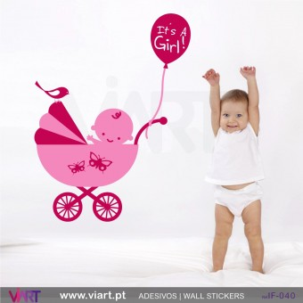 It's a Girl! Wall stickers - Baby room decoration - Viart -1