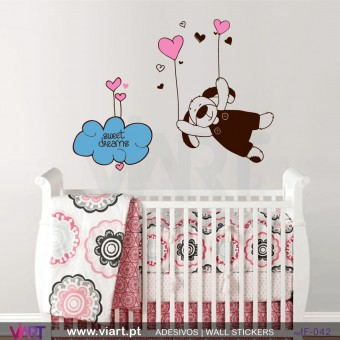 Sweet dreams with hearts! Wall stickers - Baby room decoration - Viart -1