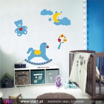 Conjunto mega fofinho para bebé! Vinil Autocolante Decorativo! Decoração quarto Bebé - Infantil - Viart -1