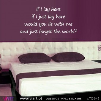 If I lay here...  Wall Sticker
