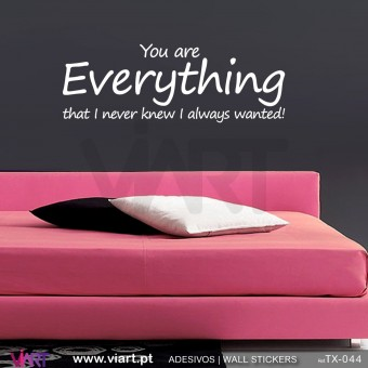 You are Everything that I never knew I always wanted! Vinil Autocolante Decorativo! Decoração parede - Viart -1