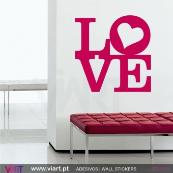 LOVE - Vinil autocolante decorativo