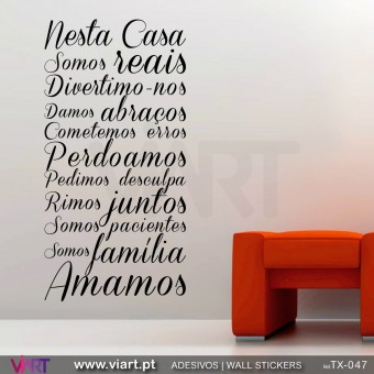 NESTA CASA... 2 - Wall Sticker
