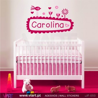 Charming garden with name! Baby room decoration!