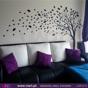 Árvore com folhas - Vinil Autocolante Decorativo! Decoração Parede - Viart -1