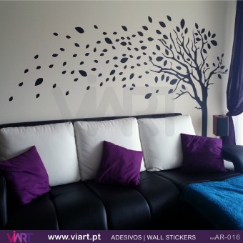 Tree with leaves!  Wall stickers - Wall Art - Viart -1