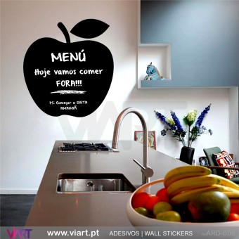 Apple Blackboard - Chalkboard - Wall stickers - Wall Art - Viart -1
