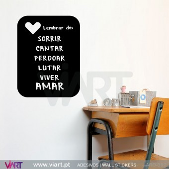 Rectangle with heart - Blackboard - Chalkboard - Wall stickers - Wall Art - Viart -1