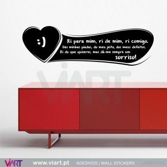 Com amor... Ardósia - Vinil Autocolante Decorativo! Decoração Parede - Viart -1