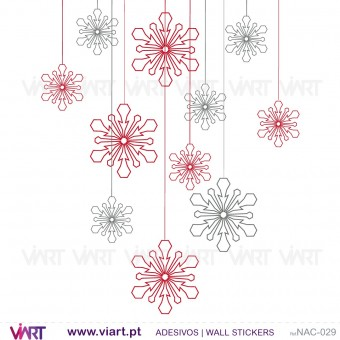 Set of 12 Christmas ice crystals! Version 1 - Chrismas Wall stickers - Wall Art - Viart -1