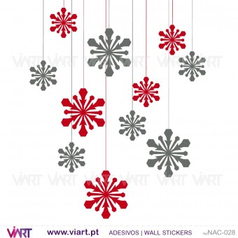 Set of 12 Christmas ice crystals! Version 2 - Chrismas Wall stickers - Wall Art - Viart -1