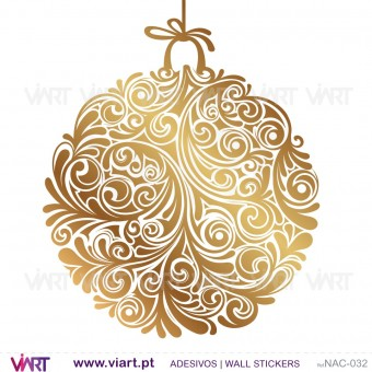 Set of 3 floral Christmas balls! Version 2 - Wall stickers - Wall Art - Viart -1