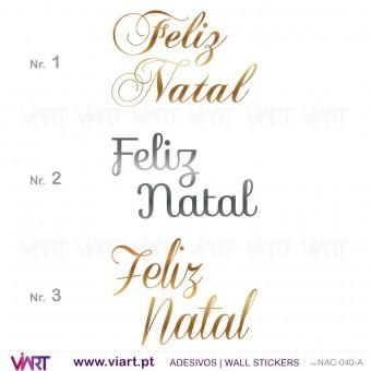 """""""Feliz Natal"""" - Frase versão 1 - Vinil autocolante"""