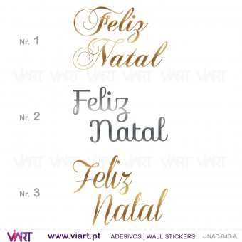 "Sentence ""Feliz Natal"" - Version 1 - Wall stickers - Wall Art - Viart -1"