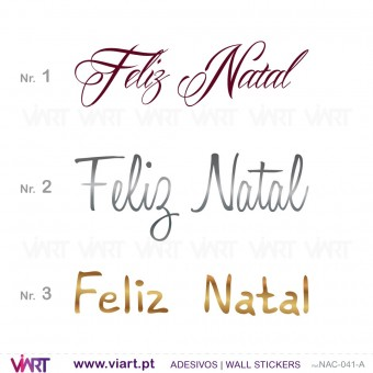 "Sentence ""Feliz Natal"" - Version 2 - Wall stickers - Wall Art - Viart -1"