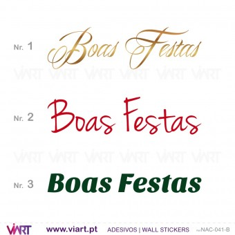 "Sentence "" Boas Festas"" - Version 2 - Wall stickers - Wall Art - Viart -1"