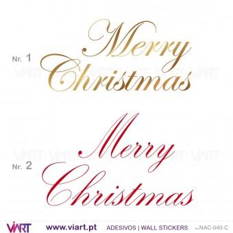 """""""Merry Christmas"""" - Versão 1 - Vinil Autocolante Decorativo! Decoração Natal - Viart -1"""