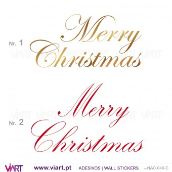 """Merry Christmas"" - Version 1 - Wall stickers - Wall Art - Viart -1"