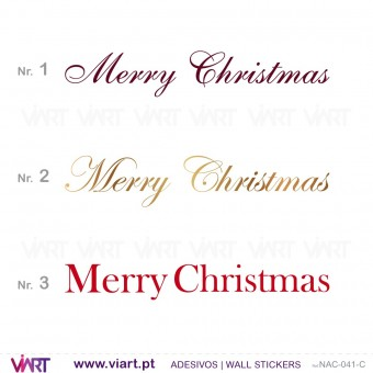 """""""Merry Christmas"""" - Versão 2 - Vinil Autocolante Decorativo! Decoração Natal - Viart -1"""