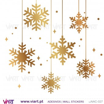 Set of 12 snowflakes - Christmas - Wall stickers - Wall Art - Viart -1
