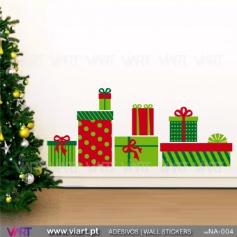 Set of Christmas presents - Wall stickers - Wall Art - Viart -1