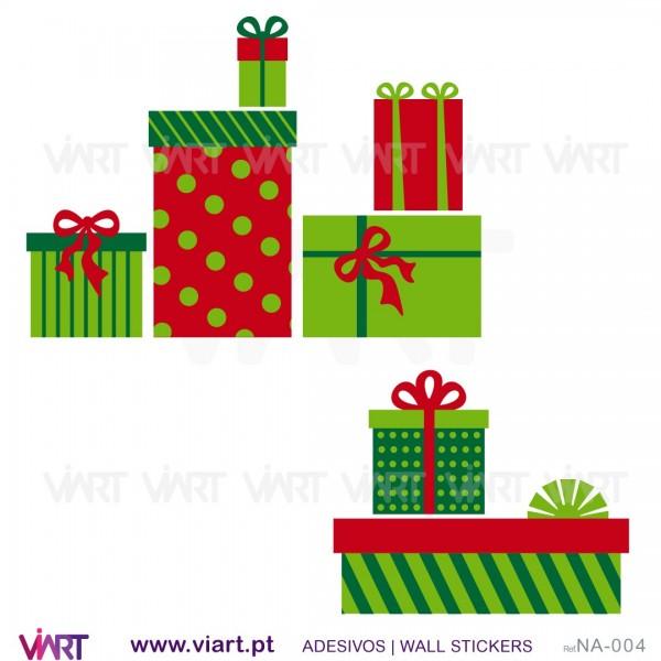 christmas presents wall stickers wall art viart