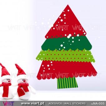 """Árvore de Natal """"Divertida"""" - Vinil Autocolante Decorativo! Decoração Natal - Viart -1"""