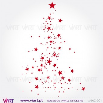 "Christmas tree ""Stars"" - Wall stickers - Wall Art - Viart -1"