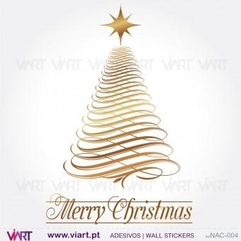 "Árvore de Natal ""Luminosa"" - Vinil Autocolante Decorativo! Decoração Natal - Viart -1"