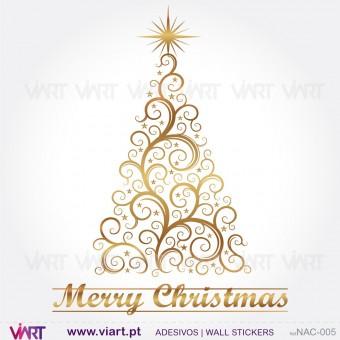 """Árvore de Natal """"Delicada"""" - Vinil Autocolante Decorativo! Decoração Natal - Viart -1"""