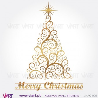 "Christmas tree ""Delicate"" - Wall stickers - Wall Art - Viart -1"