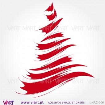 "Árvore de Natal ""Pincel"" - Vinil Autocolante Decorativo! Decoração Natal - Viart -1"