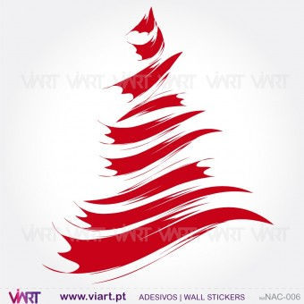 "Christmas tree ""Brush"" - Wall stickers - Wall Art - Viart -1"