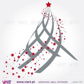 """Árvore de Natal """"Charme"""" - Vinil Autocolante Decorativo! Decoração Natal - Viart -1"""
