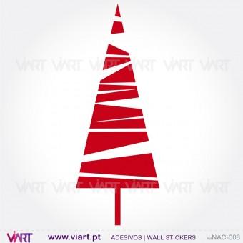 """Árvore de Natal """"Triângulo"""" - Vinil Autocolante Decorativo! Decoração Natal - Viart -1"""