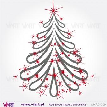 """Árvore de Natal """"Fantasia"""" - Vinil Autocolante Decorativo! Decoração Natal - Viart -1"""