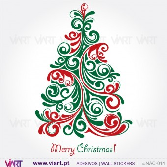 "Christmas tree ""Floral"" - Wall stickers - Wall Art - Viart -1"