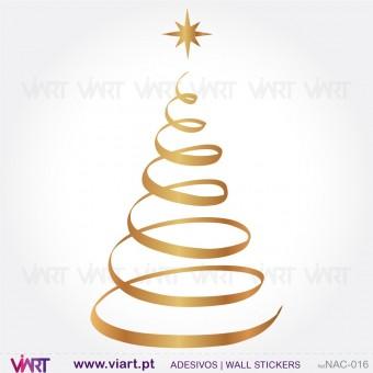 """Árvore de Natal """"Espiral"""" - Vinil Autocolante Decorativo! Decoração Natal - Viart -1"""