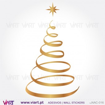 "Christmas tree ""Spiral"" - Wall stickers - Wall Art - Viart -1"