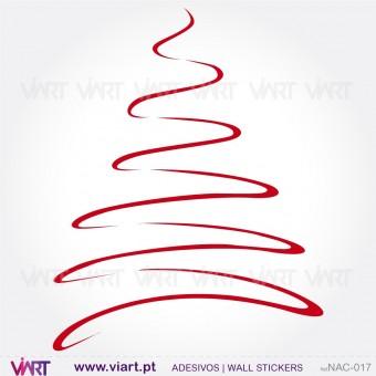 """Árvore de Natal """"Linha"""" - Vinil Autocolante Decorativo! Decoração Natal - Viart -1"""