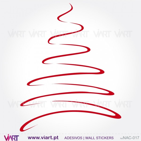 Christmas tree quot line wall stickers art viart