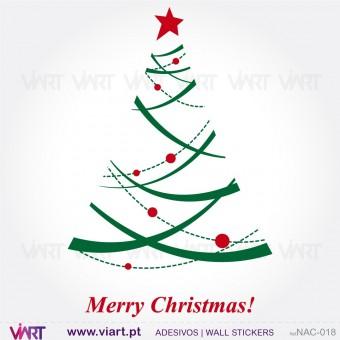 """Árvore de Natal """"Estilizada"""" - Vinil Autocolante Decorativo! Decoração Natal - Viart -1"""