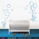 Ursinhos fofinhos com bolinhas e balões! - Vinil Autocolante Decorativo! Decoração quarto Bebé - Infantil - Viart -1
