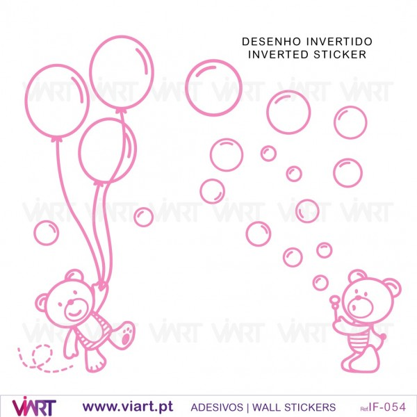 Teddy Bears With Soap Bubbles And Balloons Baby Room