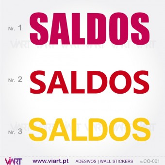 """""""SALDOS"""" - Vinil Autocolante Decorativo! Decoração de montras - Viart -1"""