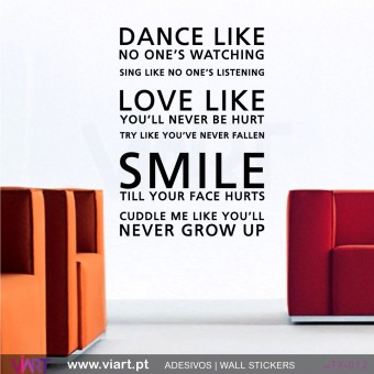 DANCE like no one´s watching - 2 - Wall stickers - Vinyl decoration - Viart-1