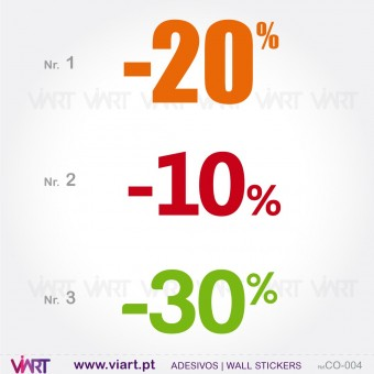 PERCENTAGE - Wall stickers - Window Dressing - Viart -1