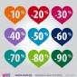 Coração com percentagem - Vinil Autocolante Decorativo! Decoração de montras - Viart -2